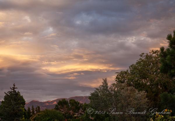 fading light sunset